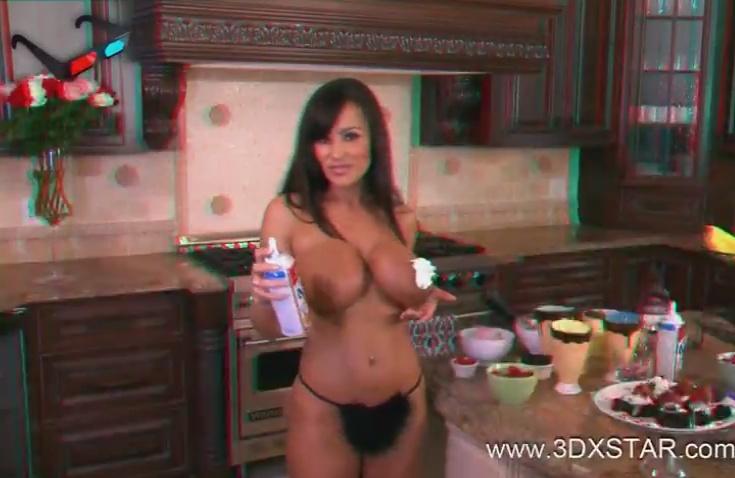 Lisa Ann трахается на кухне в 3D