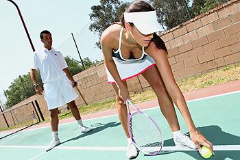 Помог теннисистке расслабиться